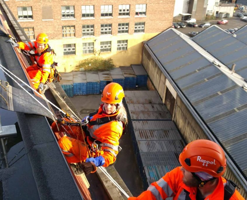 Rappel IRATA Industrial Rope Access and Abseiling Services - Cladding and Gutter Cleaning Manchester