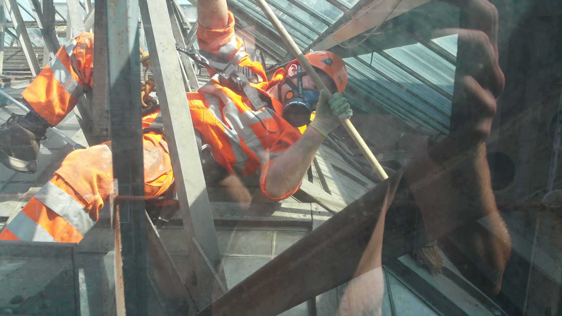 Rappel IRATA and PASMA Tower High Level Atrium Cleaning Works