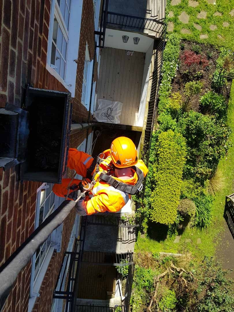 Rappel Rope Access and Abseil Drainage Painting Works London