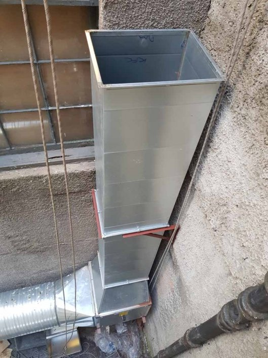 Rappel Rope Access Kitchen Extract Ducting Installation Works - Glasgow
