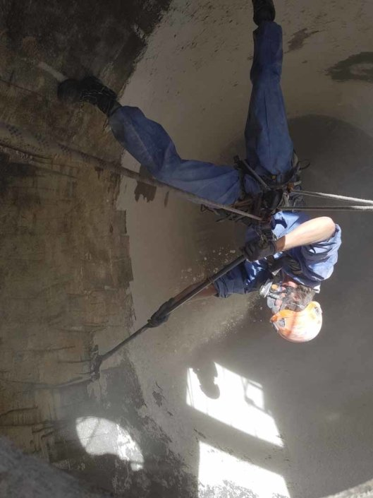 Rappel Rope Access Flour Silo Deep Cleaning Works, Steam / Hot Pressure Wash and Sanitise