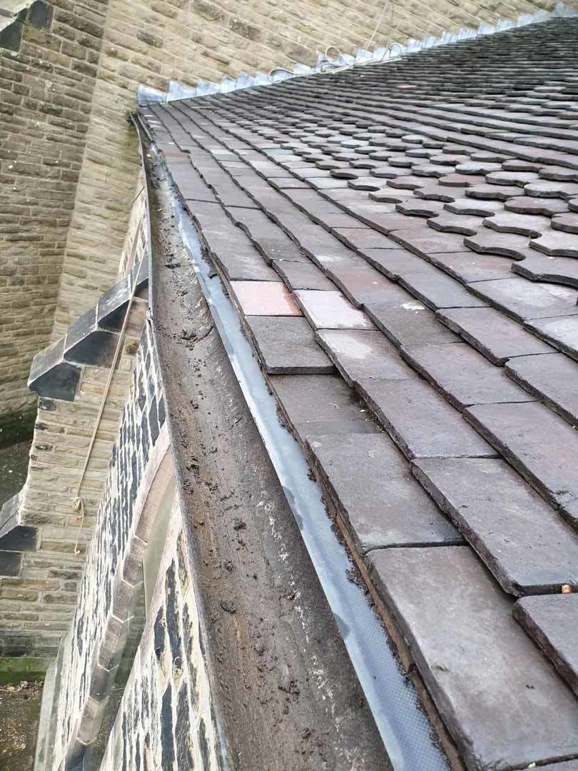High Level Access Church Gutter and Rainwater Goods Cleaning Service