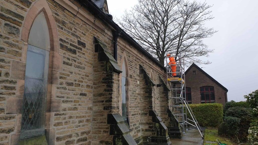 Church Gutter Rainwater Goods Cleaning Maintenance