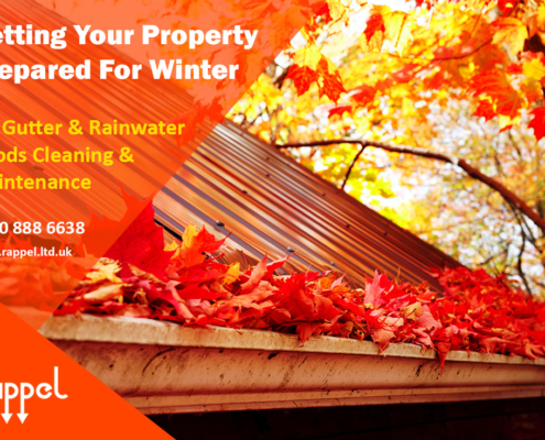 Winter Property Preparation Gutter Rainwater Goods Cleaning Maintenance