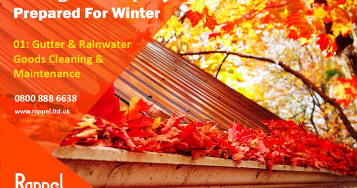 Winter Property Preparation Gutter Rainwater Goods Cleaning Maintenance