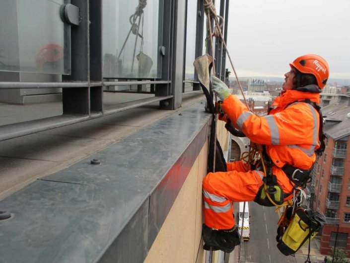 Rope Access Abseil Building Survey & Inspection - Manchester