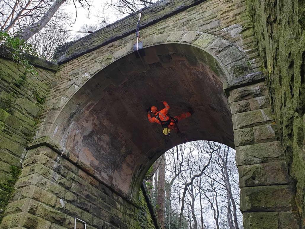 Rope Access Abseil Principal Bridge Inspection - Barnsley