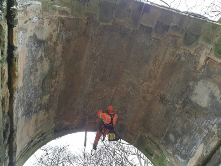 Rope Access Abseil Principal Bridge Inspection - Barnsley