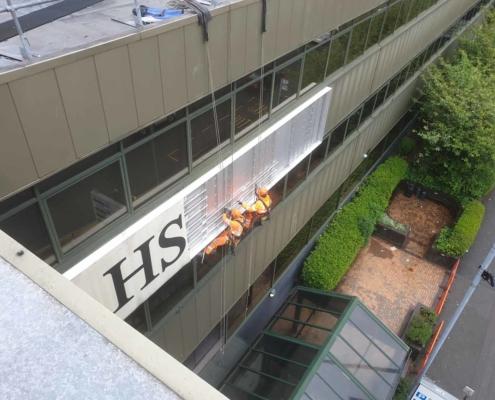 High Level Banner & Signage Removal Works - Birmingham