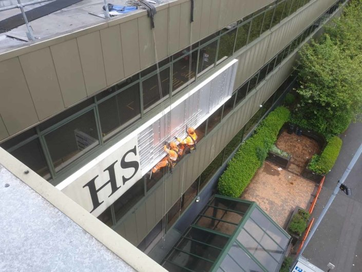 High Level Banner & Signage Removal Works - Birmingham