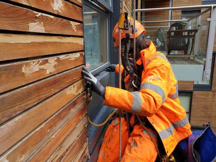 Abseil Maintenance London - Water Ingress Investigation & Repair Works