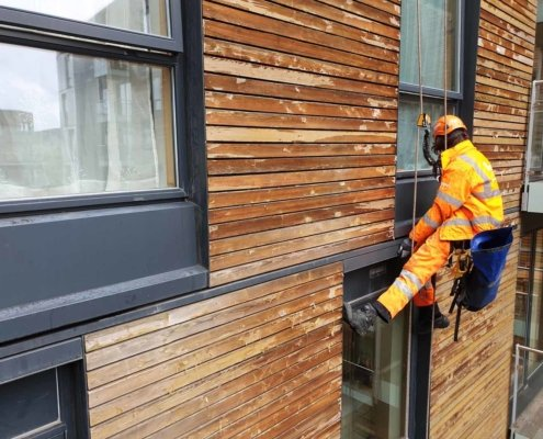 Abseil Maintenance London - Water Ingress Investigation & Repair Works