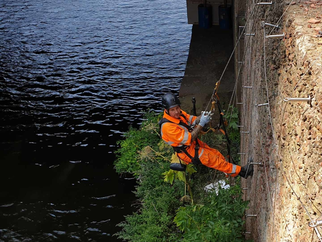 Rope Access Green Wall Installation Works - Manchester